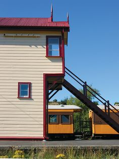 The cute little railway station at Wingatui where the Taieri Gorge Railway branches off the national network.