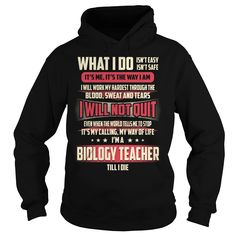 Biology Teacher Till I Die What I do T-Shirts, Hoodies. Check Price Now ==► https://www.sunfrog.com/Jobs/Biology-Teacher-Job-Title--What-I-do-Black-Hoodie.html?id=41382