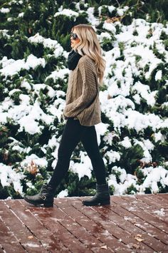 chunky knits & rugged boots