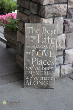 The Best Things in Life Are The People We Love - Wood Sign - Home Decor - Signs - Wall Typography Quote Saying Distressed Wooden Sign S54 by thestickerhut on Etsy