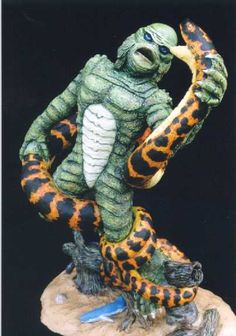 Action Hobbies CREATURE FROM THE BLACK LAGOON VS ANACONDA  by Bill Jones http://www.gremlins.com