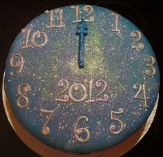 Happy New Year Cake - would look great made of styrofoam for wreaths or decor. inside