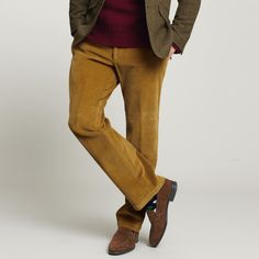 Men's cord casual trousers from Charles Tyrwhitt, Jermyn Street, London