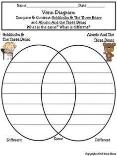 Abuelo And The Three Bears Activities
