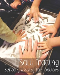 Sensory Activity for Toddlers: Salt Tracing. Great indoor learning activity to help with fine motor skills.