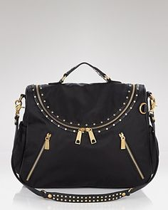 #rebeccaminkoff jodi black baby bag #bloomingdales $395