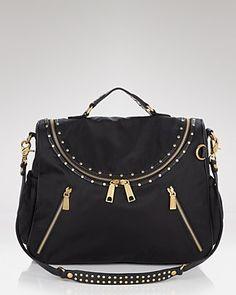 #rebeccaminkoff jodi black baby bag #bloomingdales $395