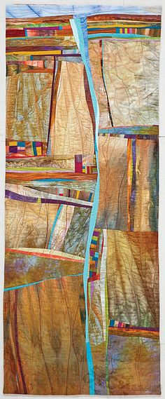 """Of the Earth"" quilt by Jean Wells. Journey to Inspired Art Quilting by C Publishing, via Flickr"
