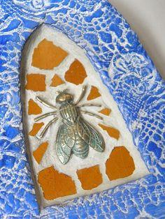 play with clay - mosaic bee shrine