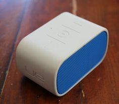 Logitec EU mini boombox.  http://9to5mac.com/2013/04/06/mega-reviewthe-absolute-best-portable-bluetooth-speakers-you-can-buy/
