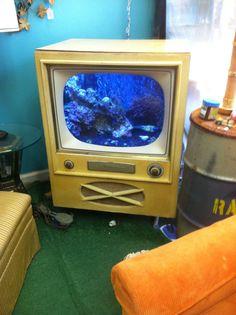 Retro TV restored to an aquarium!