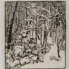 Dans les montagnes lunaires Le blaireau enfouit Sa compagne endormie Kuriu Sumio (Illustration : Andrew Davidson) mixed by カタツムリ ( France) Woodcut Art, Linocut Prints, Art Prints, Block Prints, Illustrations, Illustration Art, Wharton Esherick, Philadelphia Museum Of Art, Wood Engraving