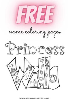 Dance Coloring Pages, Princess Coloring Pages, Free Printable Coloring Pages, Coloring Pages For Kids, Free Printables, Unicorn Names, Classic Names, Princess Style, Doodles