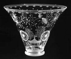 Manufacturer: Orrefors Glasbruk, Sweden; designer: Niels Tove Edward Hald (Swedish, 1883–1980), Fireworks Bowl.