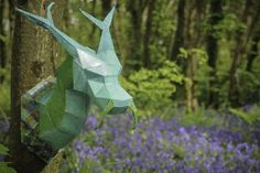 Maker Faire Paris Offers 100 Hands-On Workshops and Features 800 Makers Origami Mouse, Origami Fish, 3d Paper, Paper Crafts, Origami Paper, Masquerade Mask Template, Largest Animal On Earth, Medieval Dragon, Dragon Mask