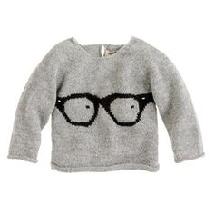 Oeuf baby glasses sweater via J.Crew