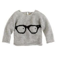 Oeuf baby glasses sweater via J.Crew