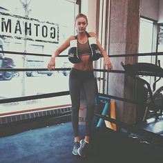 Gigi Hadid boxes to stay fit - The Strong and Sexy Workout Choice of Supermodels Right Now