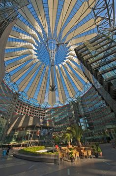 architecture in Berlin: the Sony Center Berlin Travel, Germany Travel, Cool Places To Visit, Places To Travel, Destinations, Berlin Germany, Budapest, Landscape Design, Urban Landscape