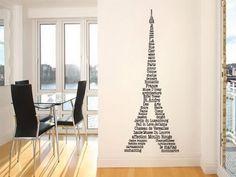 eifel tower wall word art stickers- omg @Stephanie Close Crowley