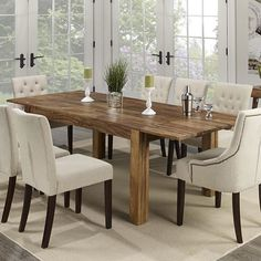 The natural beauty of Indian sheesham wood shows in this solid wood, hand-crafted table. Thick, sturdy legs ensure that this piece will not only look beautiful in your space but also stand up to daily use. Dining Room, Dining Table, Wood Grain, Your Space, Natural Wood, Modern Furniture, Solid Wood, Dark, Showroom