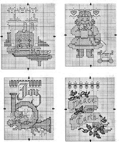 Schema punto croce Mini Calze 5
