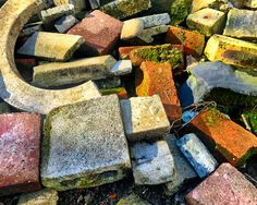 Brick by brick Sometimes a pile of bricks deserves closer attention. There was a riot of colour going on. . . If you would like a print of this photo or any others, please go to the link in my bio for my website.