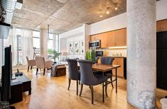 Chelsea Lofts-1375 Dupont St #207  | 2 bedroom, 2 bath corner loft with 9 ft high exposed concrete ceilings, exposed concrete columns, dual bright North and West corner exposures, laminate floors and open concept plan. 1 u/g parking included.| More info here: torontolofts.ca/chelsea-lofts-lofts-for-sale/1375-dupont-st-207 Concrete Column, Concrete Ceiling, Exposed Concrete, Loft Shop, Laminate Flooring, Open Concept, Chelsea, Lofts, Bedroom
