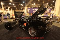 Karen Watts owns the 2015 ZO6 Chevrolet Corvette Show Car. This  high-performance Stingray is on display at the 37th Corvette Chevy Expo February 2015 in Houston, Texas.  Karen's beautiful Custom Corvette is called Mad Max.