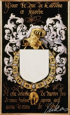 Armorial plates from the Order of the Golden Fleece - Lukas de Heere - Sint Baafskathedraal Gent Aragon, Illumination Art, Olympic Medals, Plantagenet, Family Crest, Crests, Coat Of Arms, Medieval, Royals