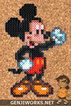 Mickey Mouse Perler beads by genjiworks on deviantart