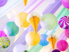 Jillian and Jilleen's Sweet Shoppe Themed Party – Birthday Paper Lanterns Party, Debut Ideas, Purple Table, Party Needs, Wonderland Party, Host A Party, Party Photos, Mini Cupcakes, Party Themes