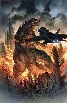 Godzilla Colors by quahkm on deviantART