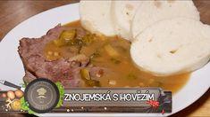 Znojemská s hovězím - Poctivě a chutně Mashed Potatoes, Beef, Ethnic Recipes, Food, Youtube, Whipped Potatoes, Meat, Smash Potatoes, Essen