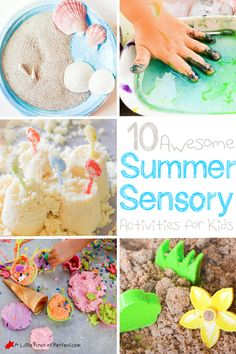 10 Awesome Summer Sensory Play Activities for Kids - Fine Motor Activities For Kids, Motor Skills Activities, Sensory Activities, Infant Activities, Kindergarten Activities, Summer Activities, Learning Activities, Preschool Learning, Teaching Ideas