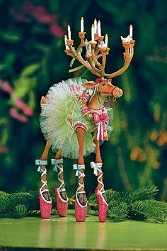 Patience Brewster Dancer Figure         * ADORABLE * Silly tippy toe moose *           I am completely in love :o)