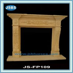 Stone Carved marble fireplace mantel Marble Fireplace Mantel, Marble Fireplaces, Fireplace Mantels, Marble Carving, Wooden Crates, Animal Sculptures, Travertine, Flower Pots, Fountain
