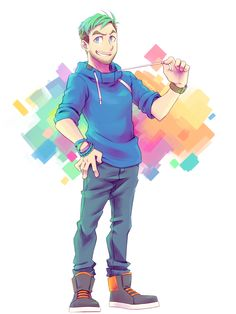 """rittesora: """" I-I just really wanted to do something colourful tbh. """"…"""