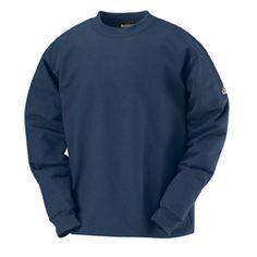 0679f12fa48 Bulwark FR Pullover Crewneck Sweatshirt - Cotton Spandex Blend.  SweatshirtsHoodiesGolf ShirtsSafety ...
