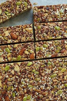 """Dried Cherry and Almond Energy Bars - not only incredibly healthy, these bars are crazy good. My son says they're """"better than Kind Bars!"""""""