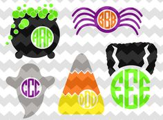 Halloween Monogram Fall Decal by SweetSerendipityShop on Etsy