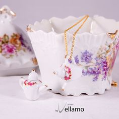 Silver or gold plated necklace delicate miniature by byVellamo