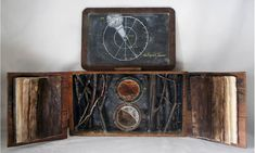 Catherine Nash: Resources for Papermaking, Encaustic and Photography: reconfiguration: mixed media assemblage Inspiration Art, Chalk Drawings, Antique Boxes, Encaustic Painting, Assemblage Art, Handmade Books, Box Art, Art Boxes, Book Making