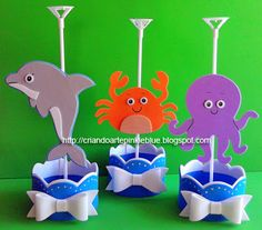 20 Creatures You Can Craft from K-Cups Under The Sea Theme, Under The Sea Party, Kids Crafts, Shark Party, Ideas Para Fiestas, Mermaid Birthday, Baby Shark, Summer Art, Party Supplies