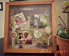 Father's Day gift idea--shadow box!!