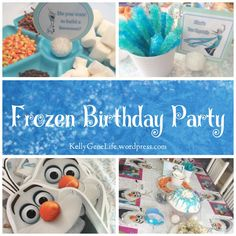 Looking for some ideas for a Frozen-themed party? Here are some of the things I did for my daughter's party. I made this slime like stuff as party favors. You can find the full instructions h…
