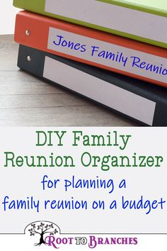 Family Reunions- DIY Family reunion organizer / binder for planning a family reunion on a budget Family Reunion Activities, Youth Group Activities, Family Games, Family Reunions, Youth Groups, Group Games, Family Reunion Decorations, The Plan, How To Plan