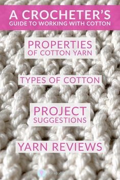 Cotton yarn is great for crocheting clothes, homewares and many other projects.  Learn about the types of cotton (including mercerised, Egyptian and Pima) and why it's so popular in summer time. Discover where it's from,  how to choose the right cotton yarn for your project with yarn reviews included Crochet Ideas, Free Crochet, Crochet Patterns, Cotton Plant, Modern Crochet, Paintbox Yarn, Yarn Brands, Love Craft, T Shirt Yarn