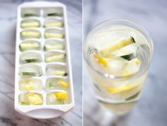 Freeze small pieces of fruit, such as cucumber, lemons and limes and it's another way to naturally flavor your water.