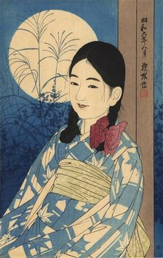 """Jyugoya"" (Autumn full moon) by Ito Shinsui, 1931 ((The second series of Modern Beauties))"
